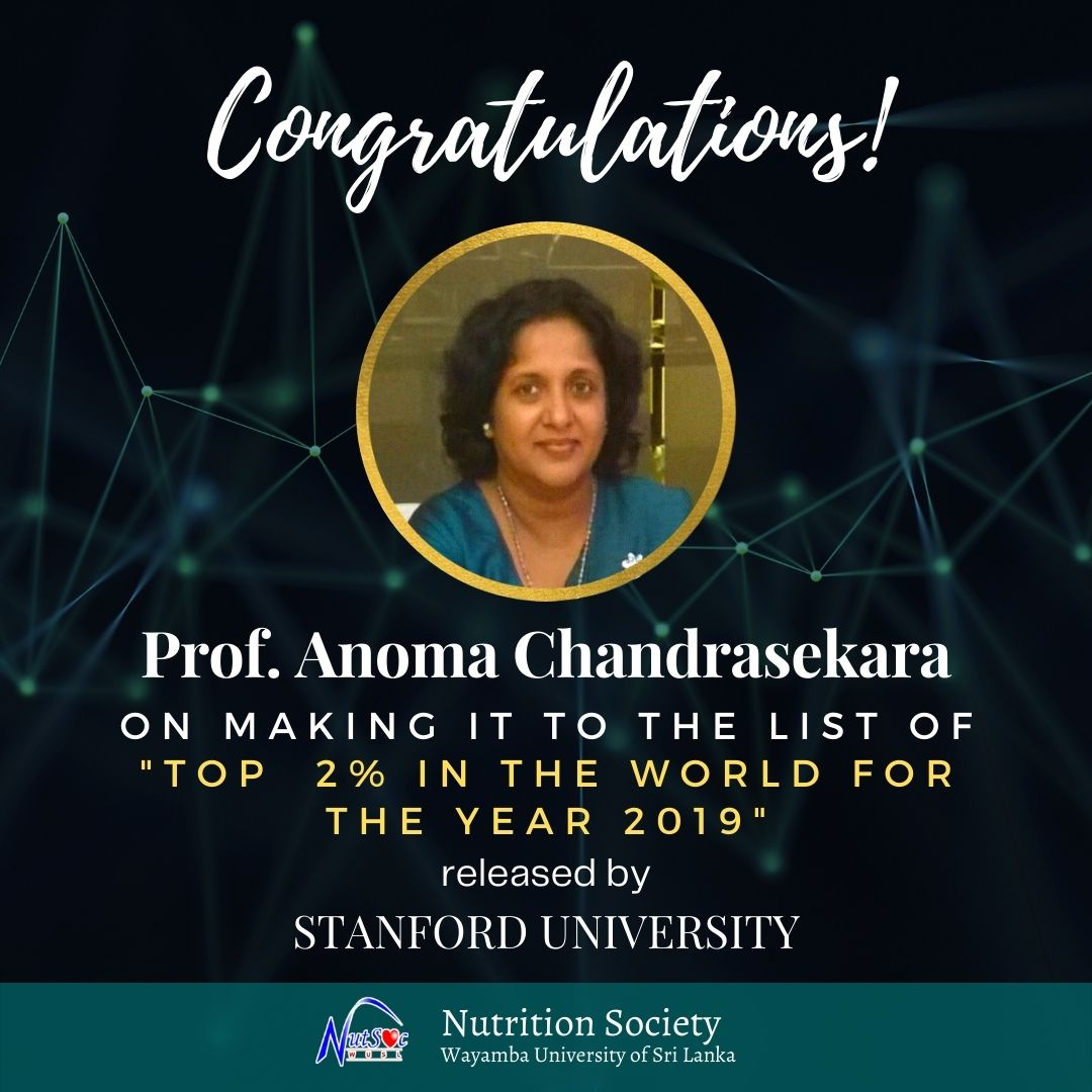 Prof. Anoma in the World Top 2% Scientists for 2019